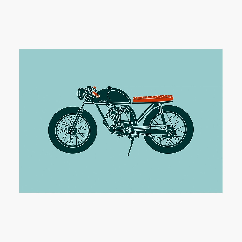hight resolution of  honda cb125 cafe racer photographic print by motomood redbubble