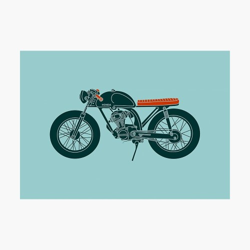 small resolution of  honda cb125 cafe racer photographic print by motomood redbubble