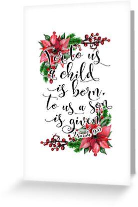 floral christmas bible verse