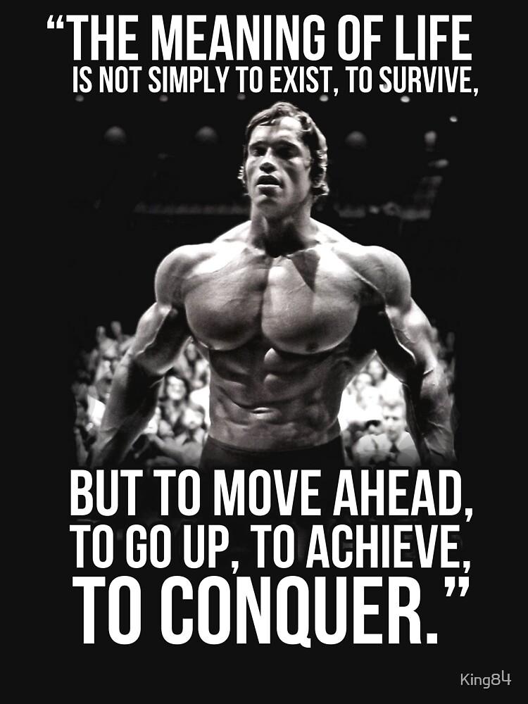 Iphone X Wallpaper Bodybuilding Quot Arnold Schwarzenegger Arnie Conquer Quote Quot T Shirt By
