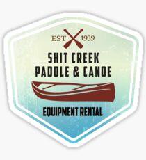 Paddle & Canoe Equipment Rental Sticker