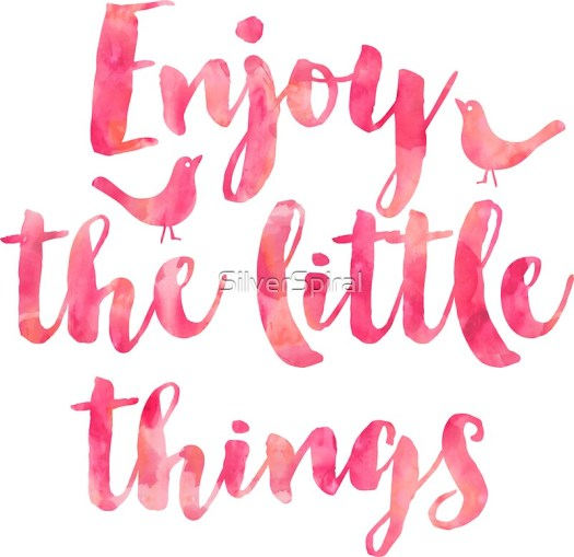 """""""Enjoy the Little Things Watercolor Motivational Quote ..."""
