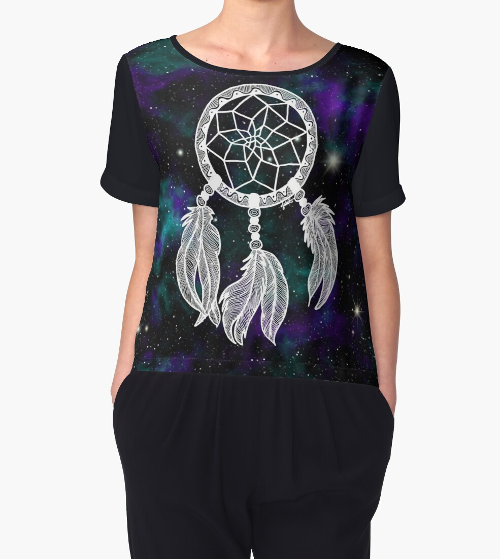 galaxy dreamcatcher dream catcher chiffon blouse womens shirt gift