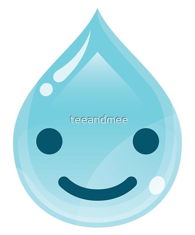 water drop emoji happy