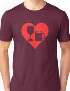 Powered on Coffee & Wine (CLR) T-Shirt