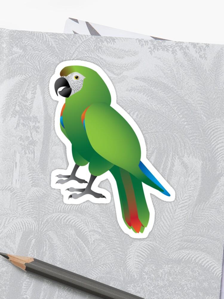 severe macaw graphic sticker