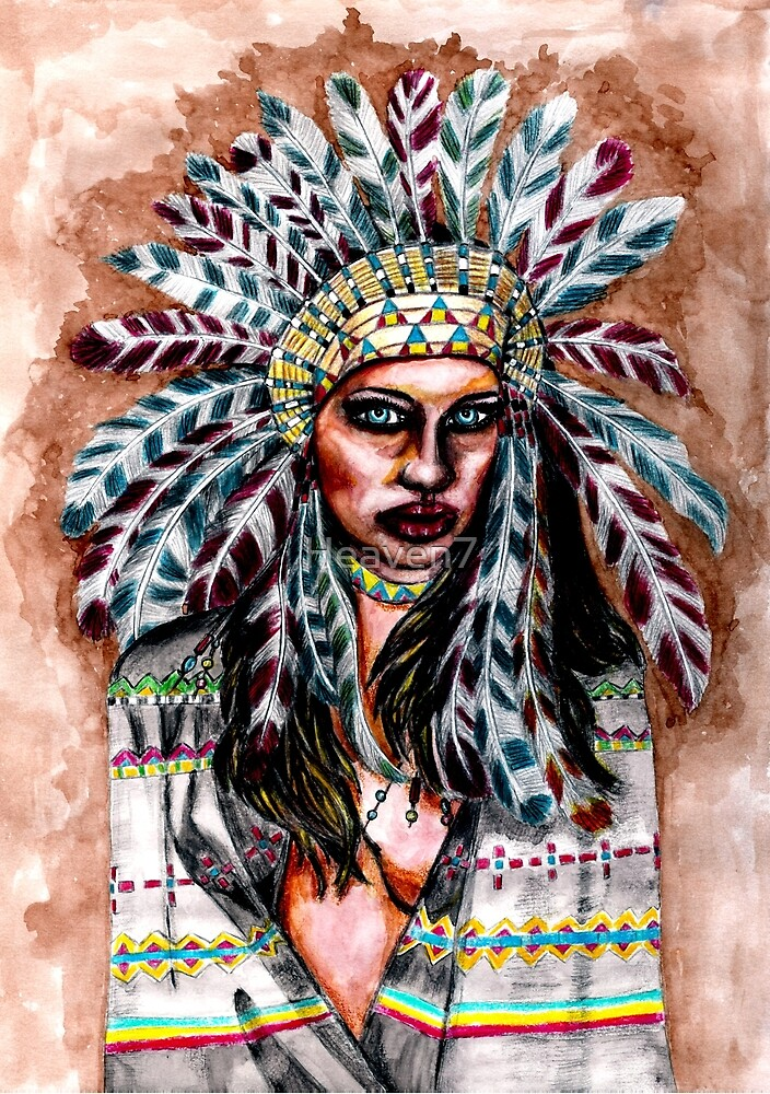 Lumbee Woman  Indian Native American by Heaven7  Redbubble