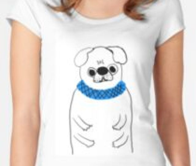Chubby Pug Womens Fitted Scoop T Shirt