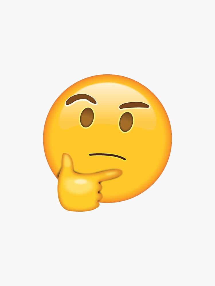 Thinking Emoji Glowing Eyes : thinking, emoji, glowing, Thinking, Emojis, Stickers, Redbubble