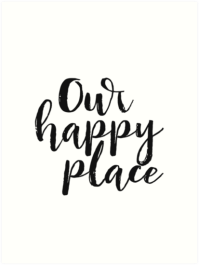 """""""Kitchen Decor Printable Quote Our Happy Place Printable ..."""
