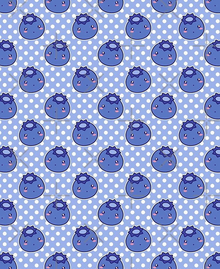 Blueberry Pattern : blueberry, pattern, Kawaii, Blueberry, Pattern
