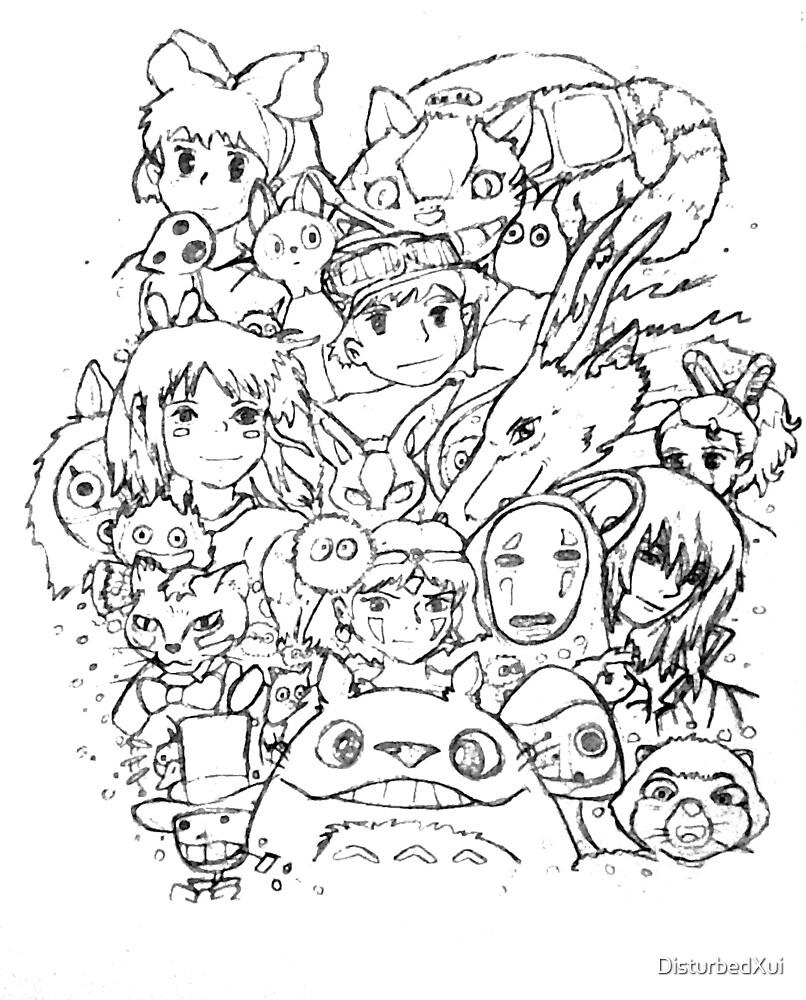 Studio Ghibli Collage By DisturbedXui Redbubble