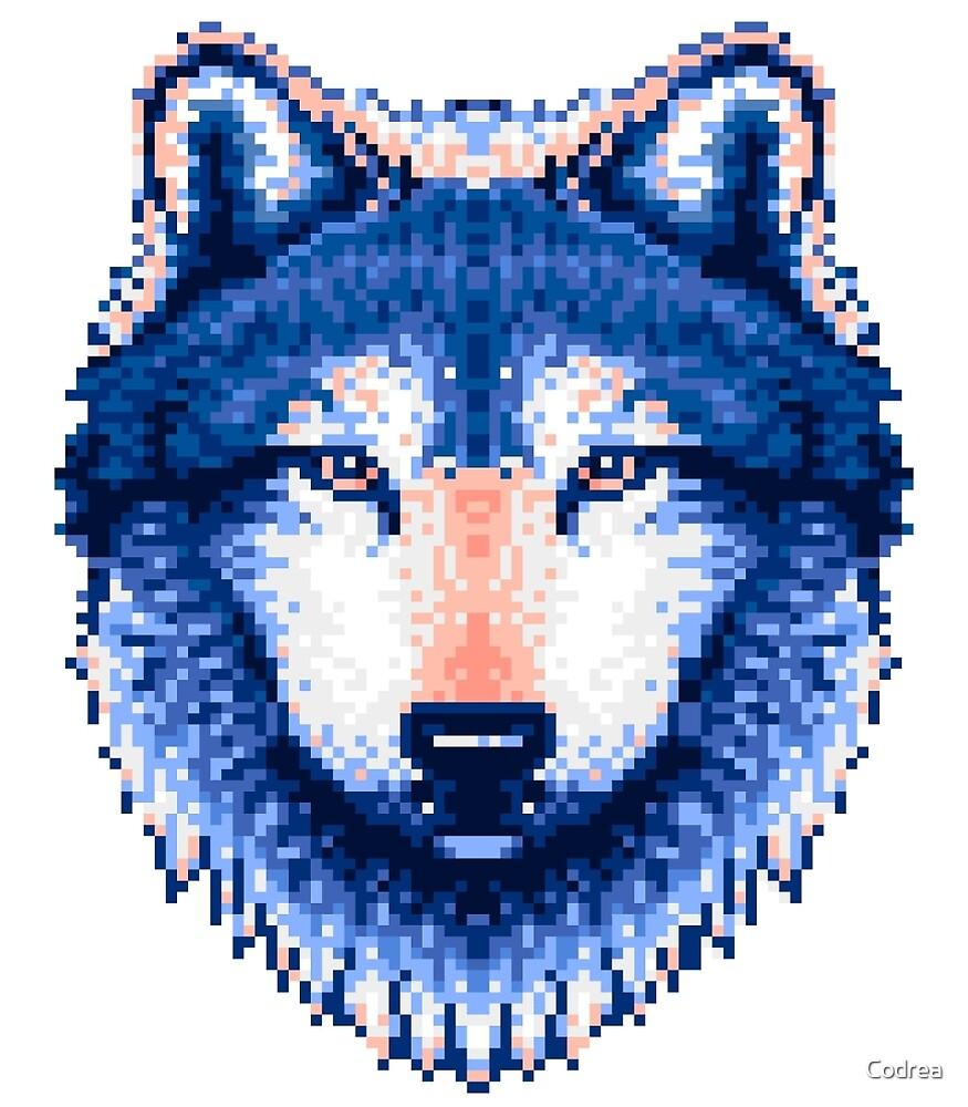 SteelBlue Wolf Pixel Art by Codrea  Redbubble