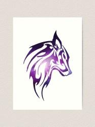 Galaxy Wolf Art Print by thebatmanisar Redbubble