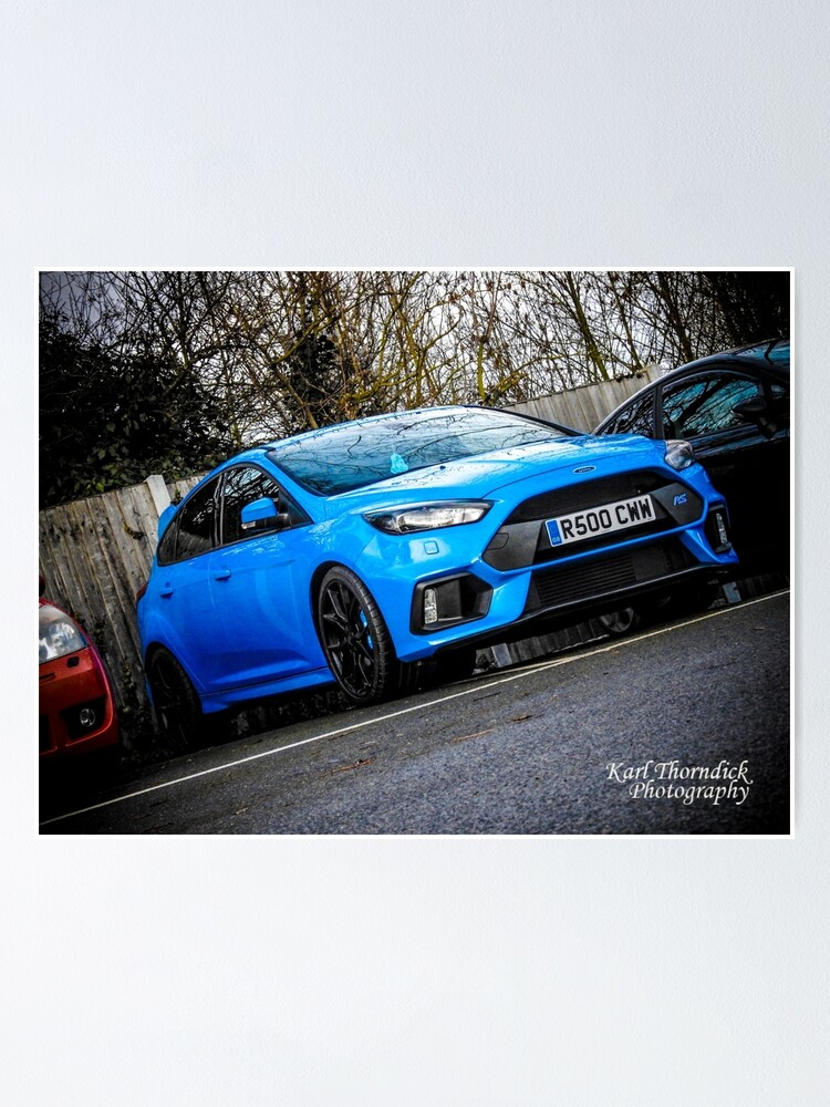 Ford Focus Rs Blue : focus, FOCUS, Poster, Karlthorndick, Redbubble