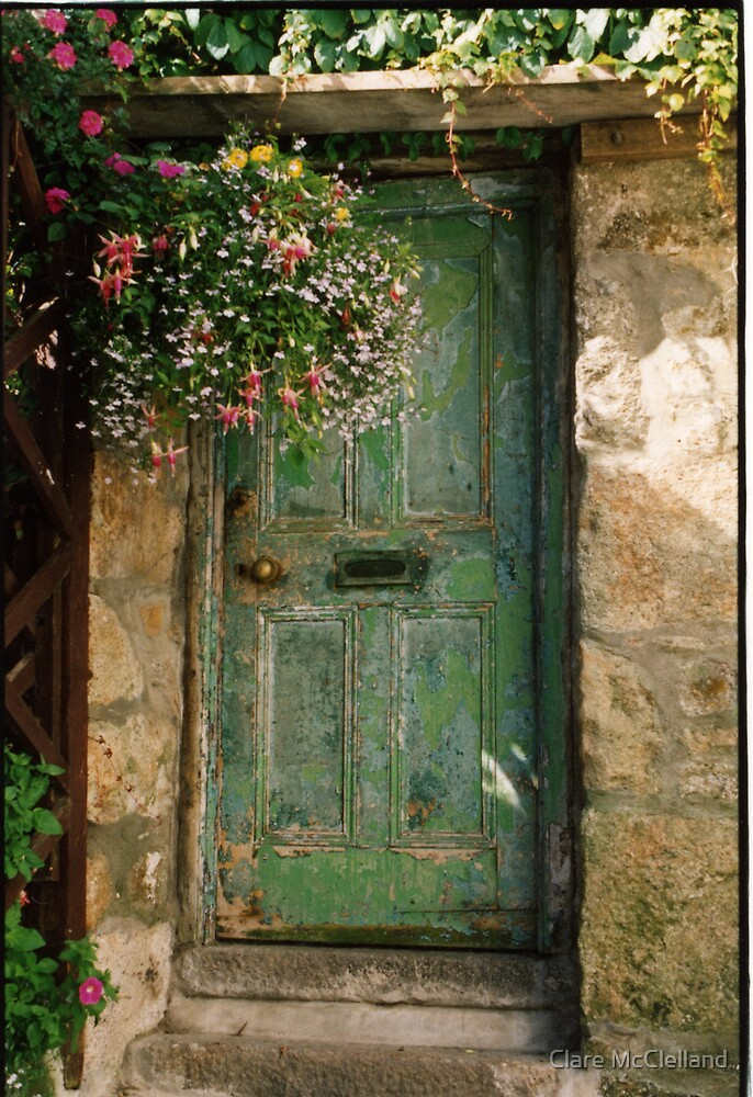 Old Green Door by Clare McClelland  Redbubble