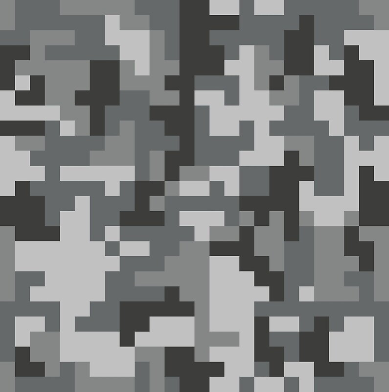 Urban Grey Pixel Camo pattern by PRODUCTPICS  Redbubble