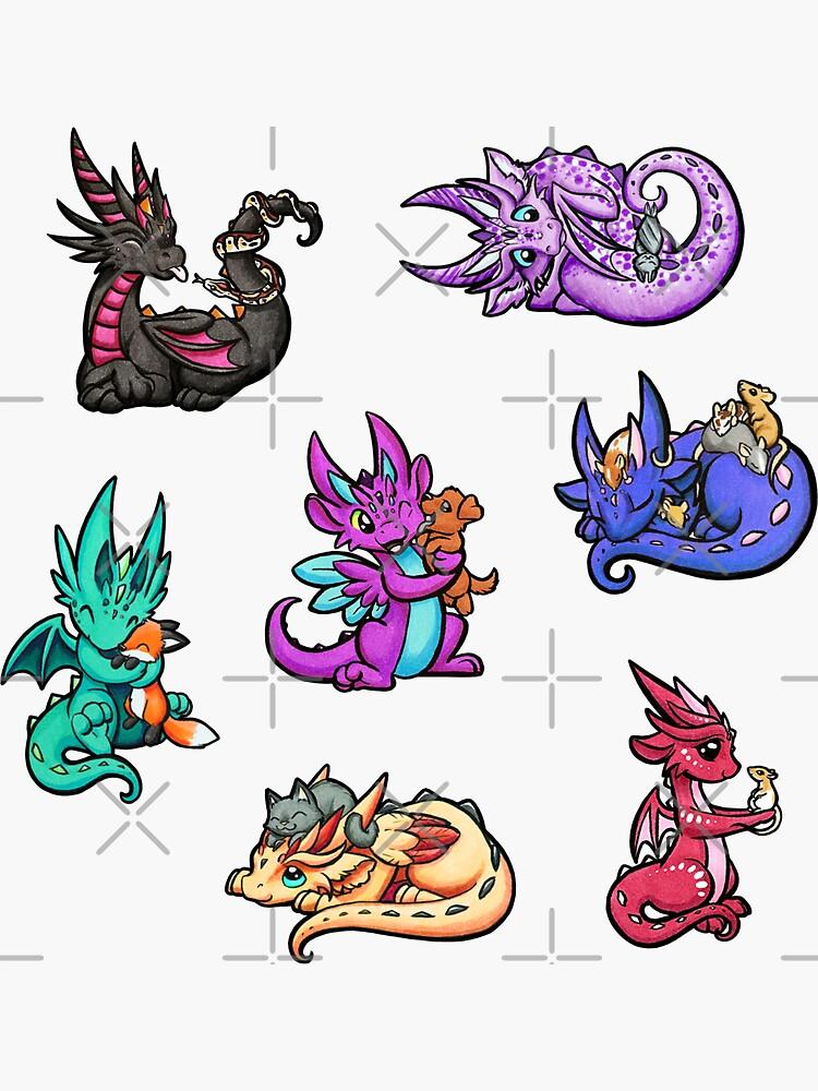 4 Images 1 Mot Paon : images, Stickers, Thème, Dragons, Redbubble