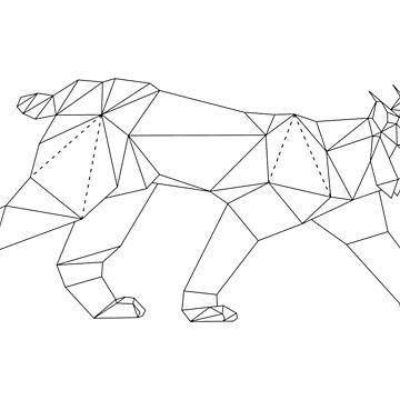 Impression sur toile « Cheval géométrique », par n