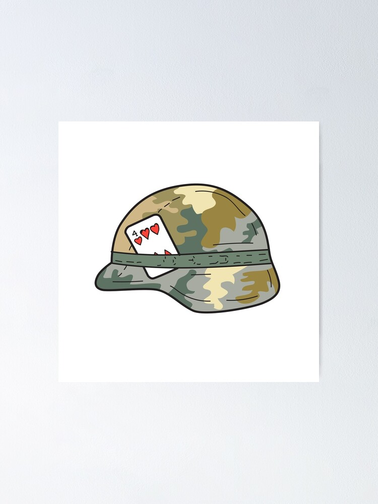 Army Helmet Drawing : helmet, drawing, Helmet, Hearts, Playing, Drawing
