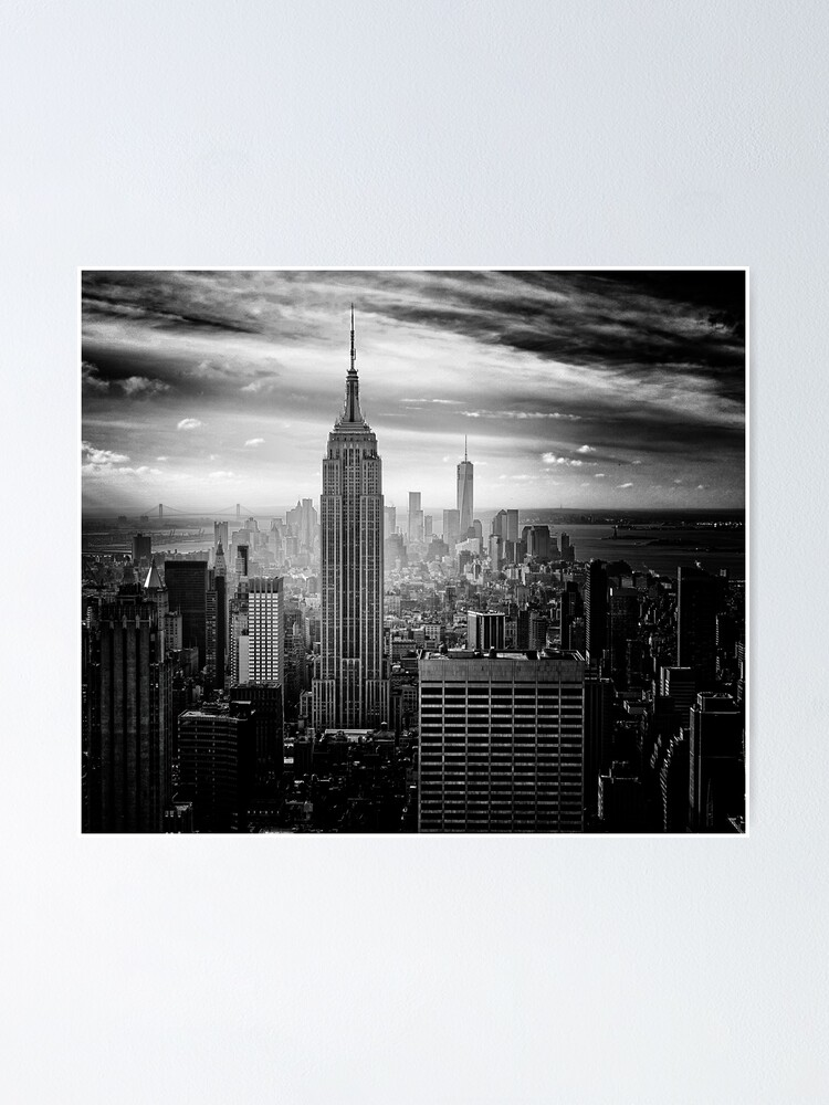 new york city skyline poster von cadinera redbubble