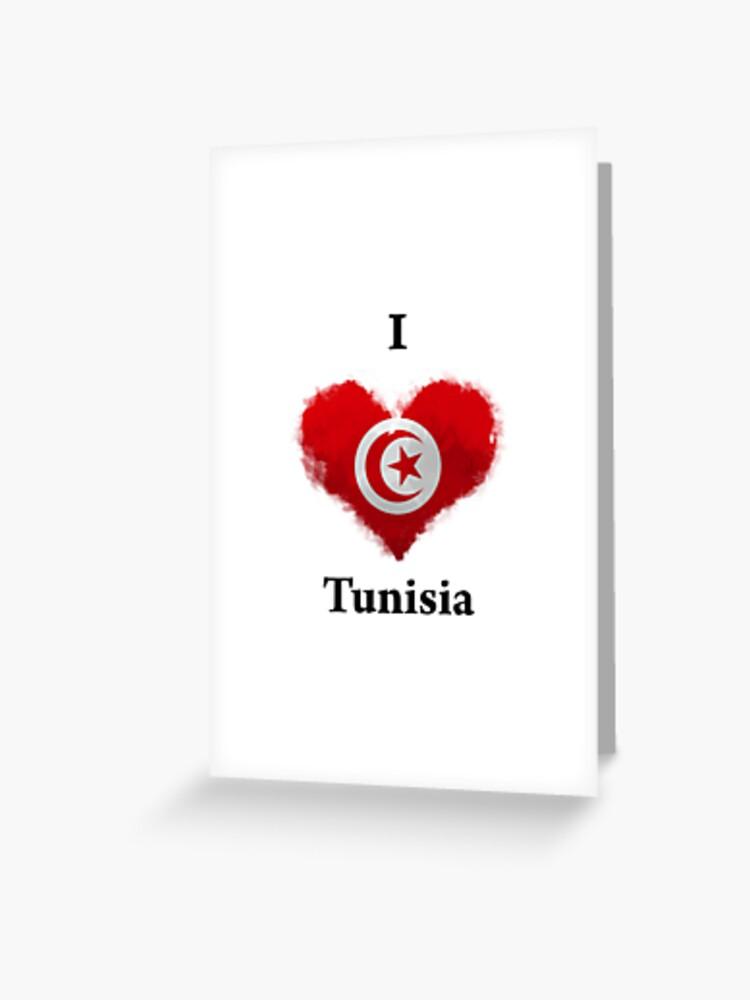 Je T Aime En Tunisien : tunisien, Carte, Vœux, J'aime, Tunisie, KarimStudio, Redbubble