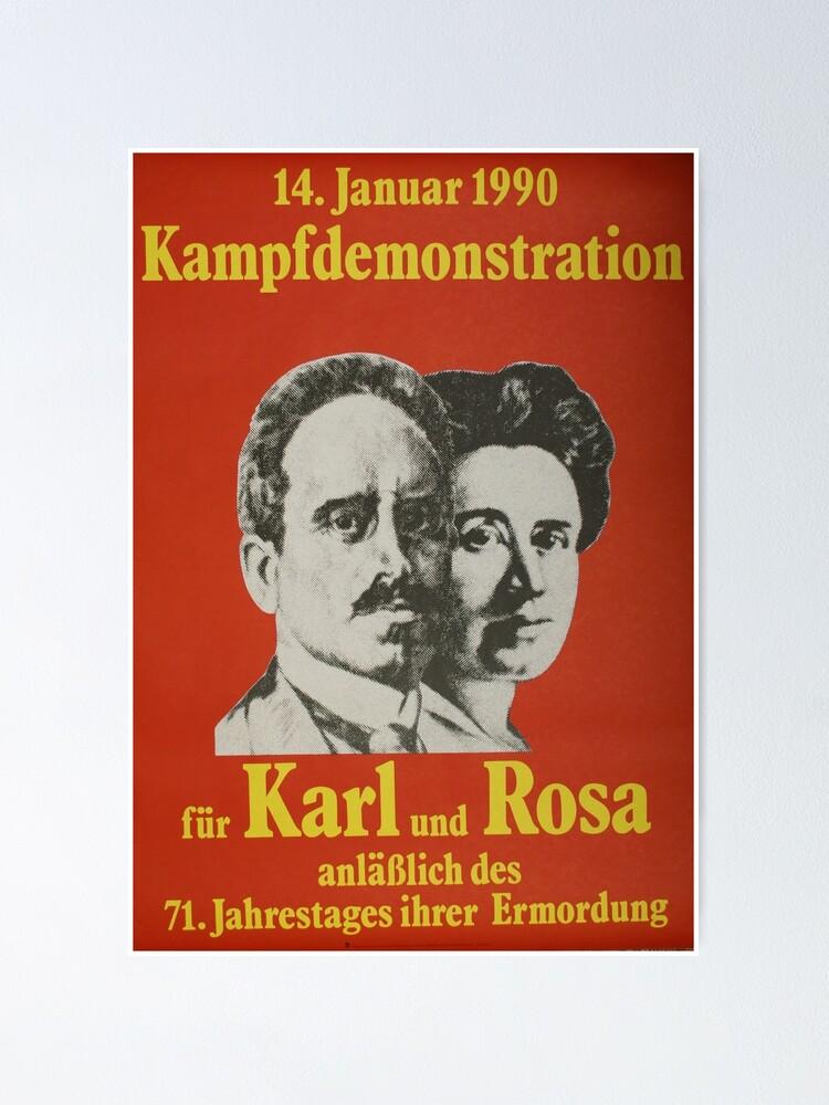 Rosa Luxemburg Et Karl Liebknecht : luxemburg, liebknecht, Poster, Liebknecht, Luxemburg,, Affiche, Propagande, Communiste, RemoKurka, Redbubble