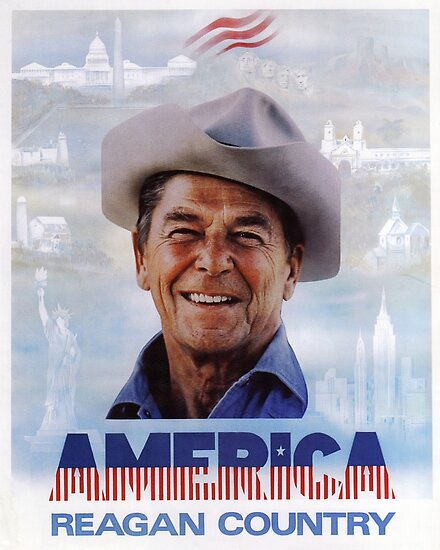America Reagan Country  Vintage 1980s Campaign Poster Poster by Jeffest  Redbubble