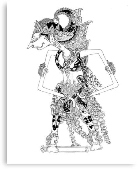 Lienzos «Wayang Kulit (Marioneta de sombras de cuero de