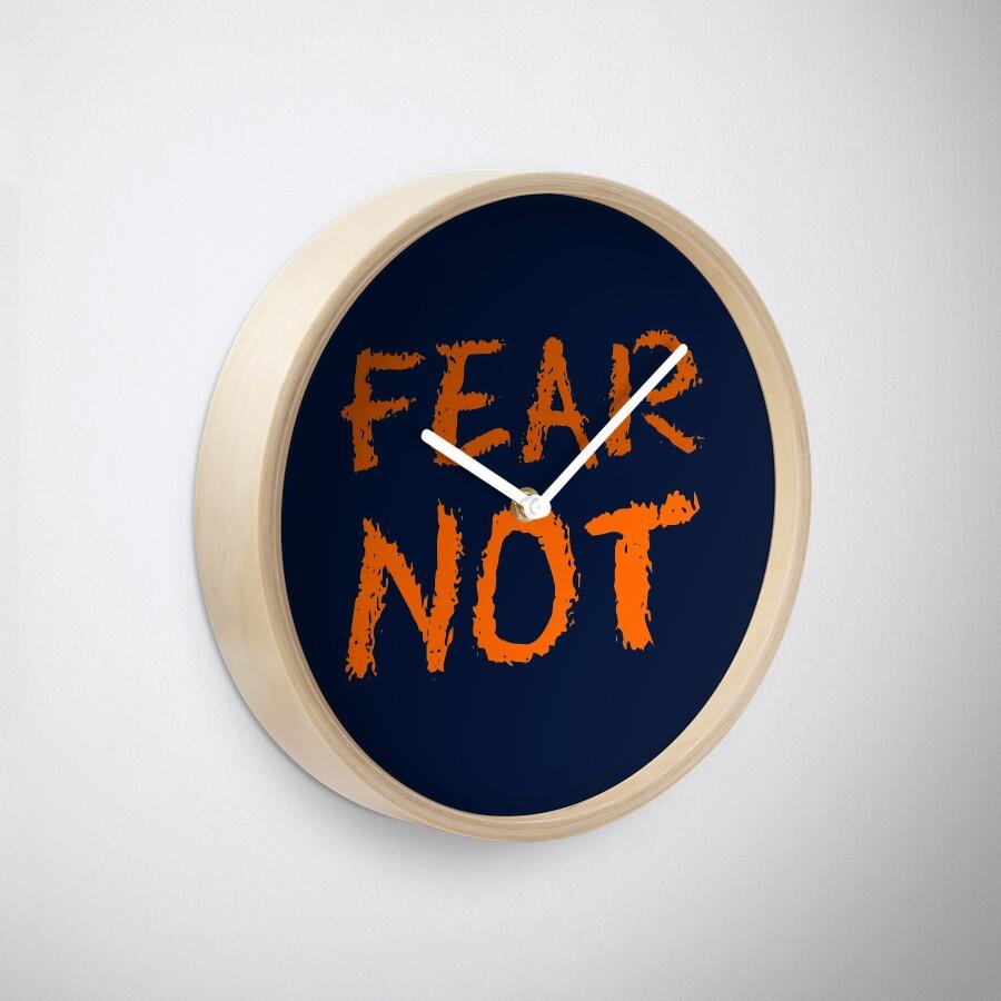 Christian Spiritual Warfare FEAR NOT Clock