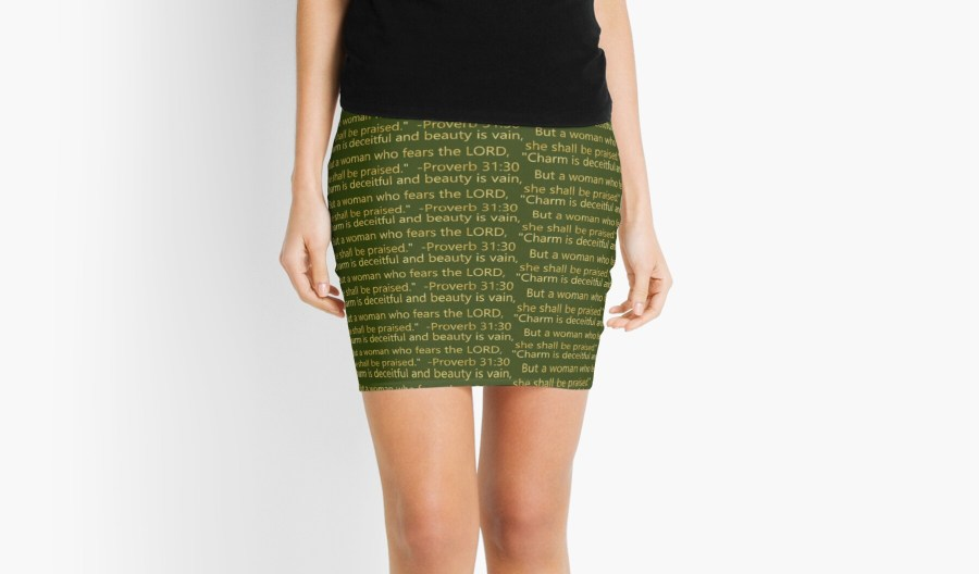 Scripture Proverb 31:30 Woman Mini Skirts