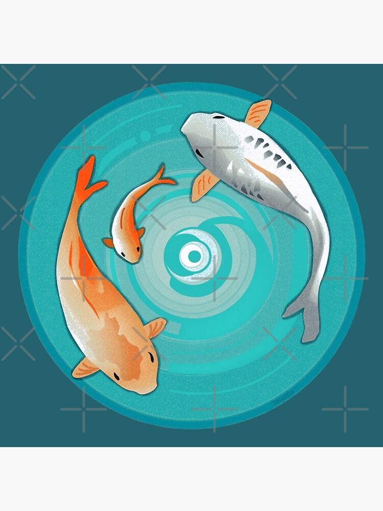 Koi Fish Circle : circle, Japanese, Circle, Design