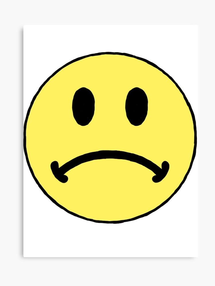sad smiley face canvas
