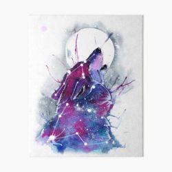 Galaxy Wolf Art Board Print by RubisFirenos Redbubble