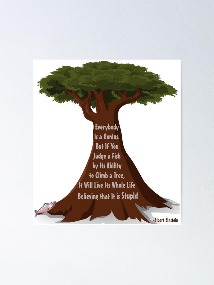 Tout Le Monde Est Un Génie : monde, génie, Poster, Monde, Génie:, Einstein, Creationary, Redbubble
