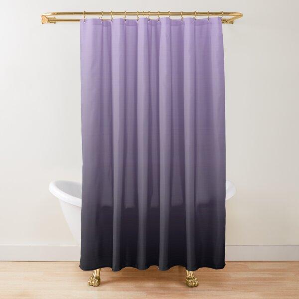 ombre black purple shower curtains redbubble