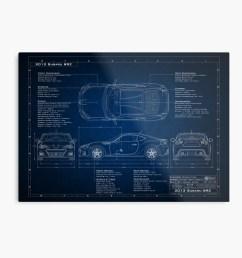 subaru brz blueprint metal print by blackartgraphx redbubble [ 1000 x 1000 Pixel ]