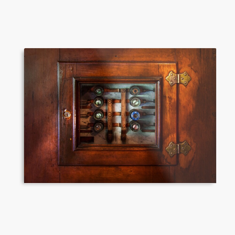 hight resolution of  steampunk electrical the fuse panel metal print by mikesavad redbubble