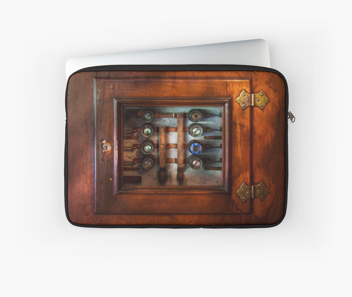 hight resolution of  steampunk electrical the fuse panel laptop sleeve by mikesavad redbubble