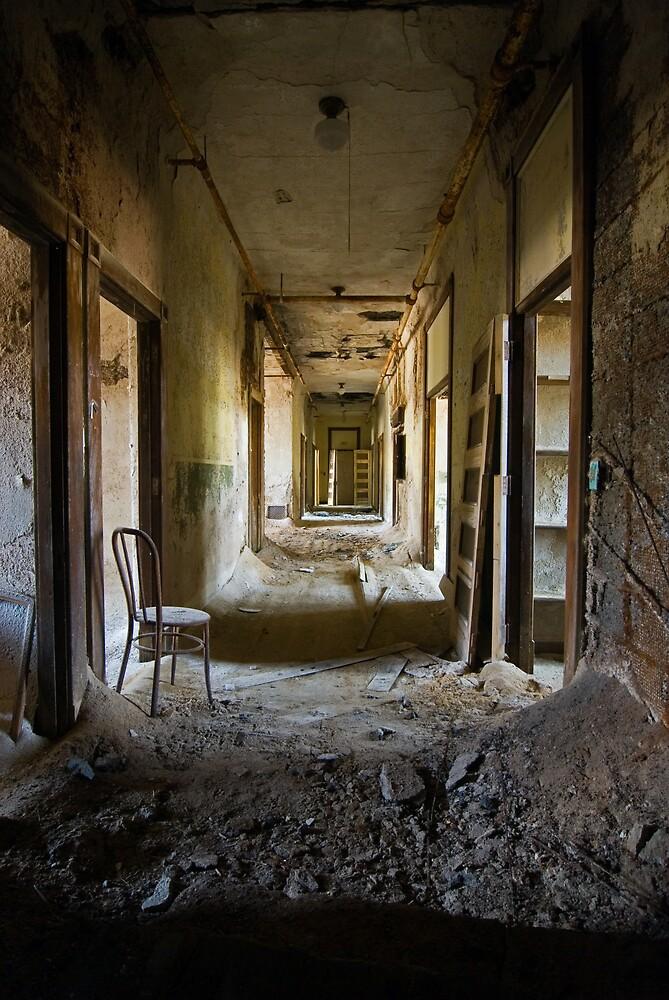 asylum hallway by rob dobi  Redbubble