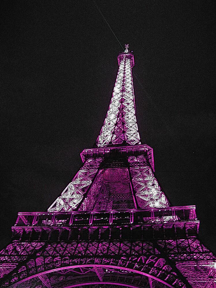 Eiffel Tower Purple By Tom Reynen Redbubble