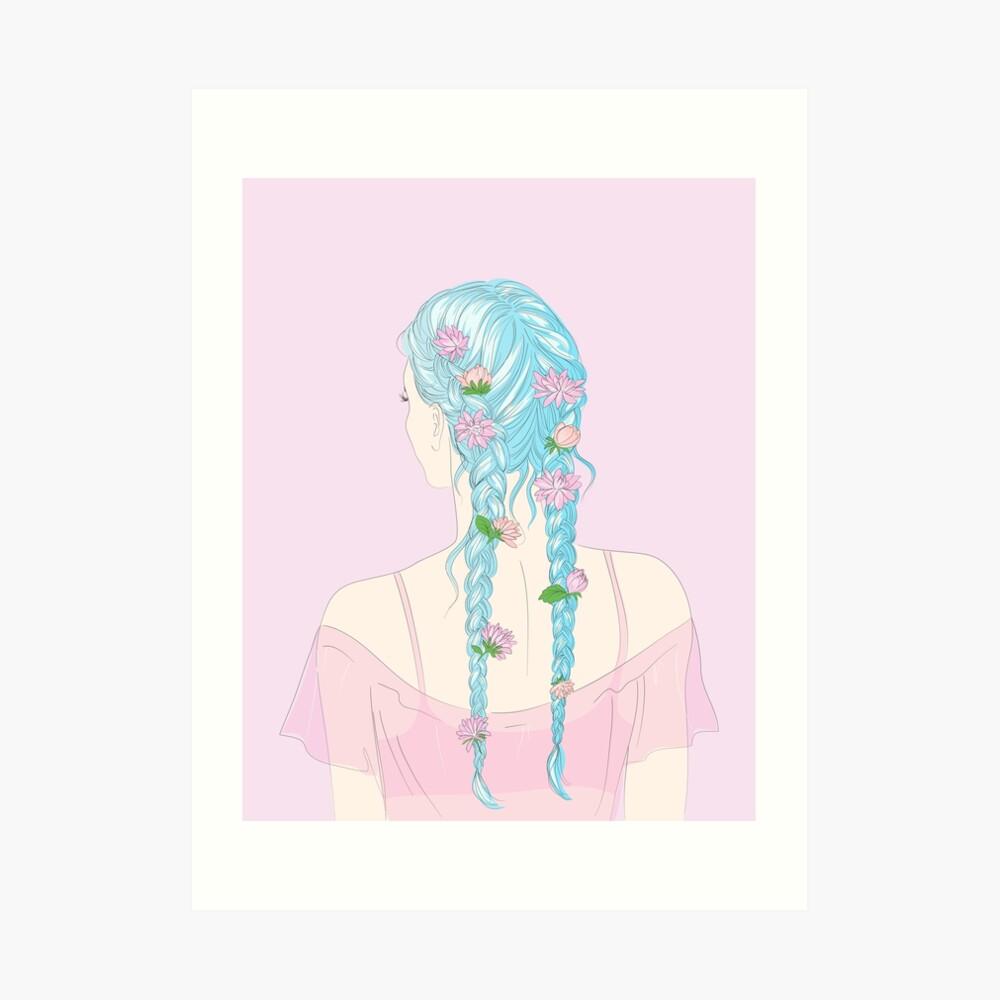 medium resolution of  flower braids art print by anneamanda redbubble
