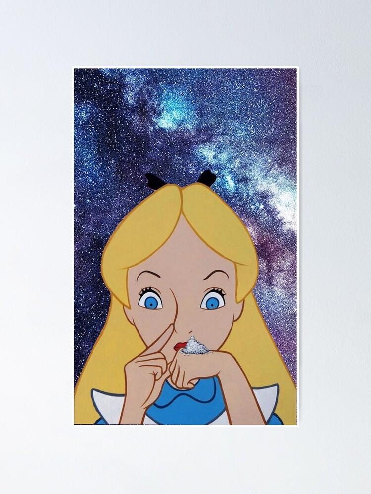 Alice Au Pays Des Merveilles Drogue : alice, merveilles, drogue, Poster, Alice, Merveilles, JJDesignShop, Redbubble