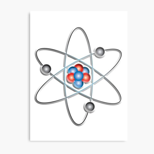 small resolution of atom atomic lithium atom model small physics neutrons protons electrons nuclear energy fission fusion on white metal print