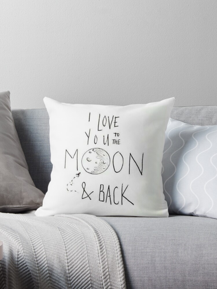 i love you to the moon and back throw pillow by meganwithabeani redbubble