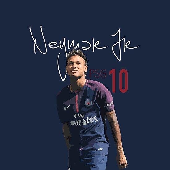 Iphone X Border Wallpaper Quot Neymar Jr Psg Quot Poster By Nickb17 Redbubble