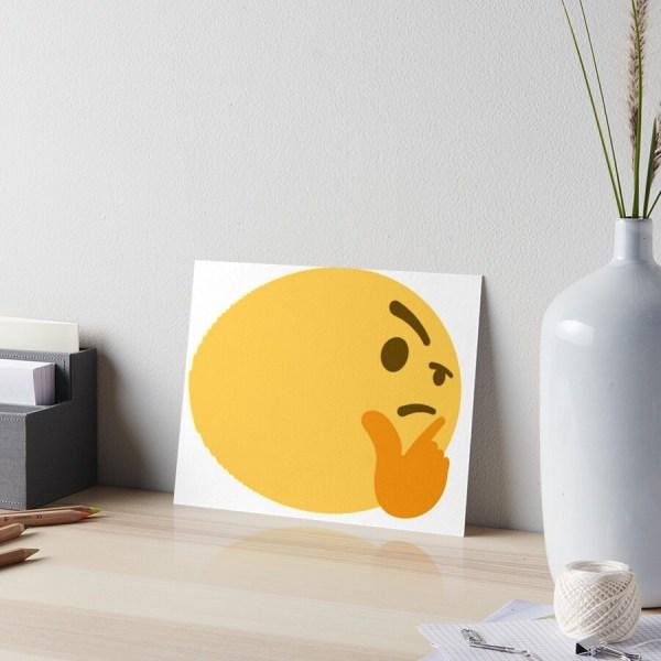 """fat Thinking Emoji"" Art Boards Stertube Redbubble"