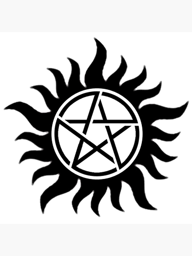 Supernatural Protection Tattoo : supernatural, protection, tattoo, Supernatural, Protection, Tattoo, (Black)