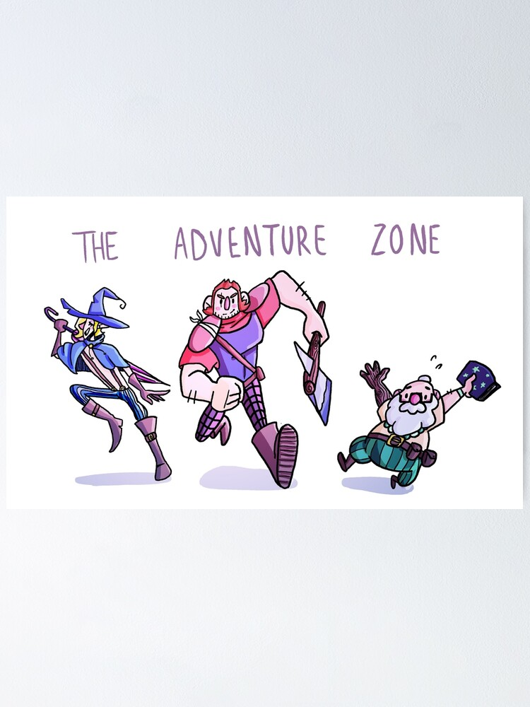 the adventure zone poster by is hibernating redbubble