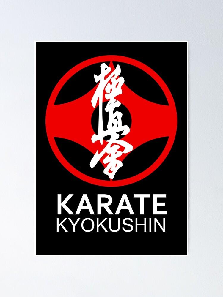 Karate Symbol : karate, symbol, Kyokushin, Karate, Symbol, Kanji, White, Text